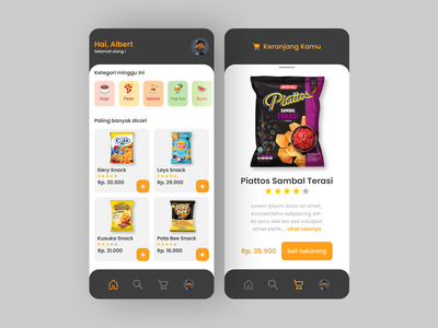 Food Shopping UI/UX app interfacedesign web app interface design uxdesign ux uiux uidesign ui