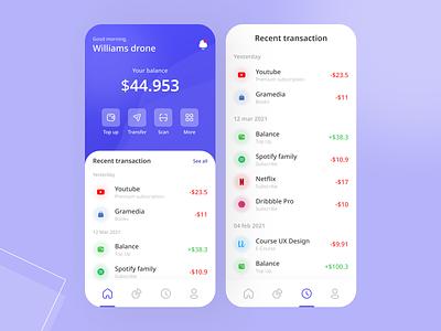 Wallet App interfacedesign interface app web design uxdesign ux uiux uidesign ui