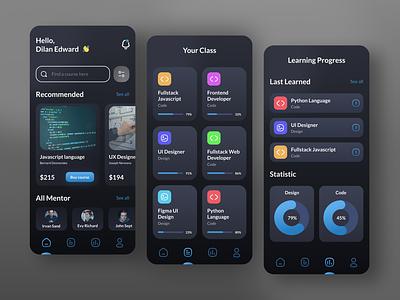 Course App ui design interfacedesign interface app uxdesign ux uiux uidesign ui design