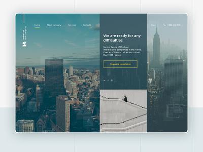 Website design for law company company legal law minimal ux ui uidesign concept website web design