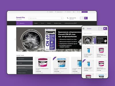 Redesign online store for Ceresit distributor uiux distributor online store uxdesign ux uidesign ui website web design