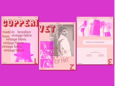 Copperivet Branding graphic design fashion color color palette concept palette typography logo branding design