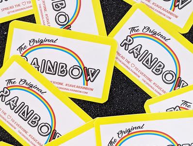 The Original Rainbow Branding fashion graphic design vector illustrator art color palette packaging design palette logo branding design