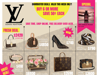LV Weekly Ad graphic design luxury fashion design spoof