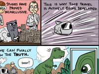 Pug T-Rex comic