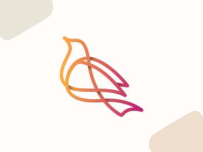 Bird logo graphic design printing design letter logo new business logo simple logo pro logo design luxury logo creative logo modern minimalist logo modern logo vector branding design logo flat logo design flat logo minimalist logo illustration natural logo bird logo