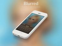 Blurred landing page