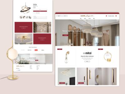 Lighting Originals Website Redesign webdesign lamp maroon canadian local local business fixtures lighting toronto design