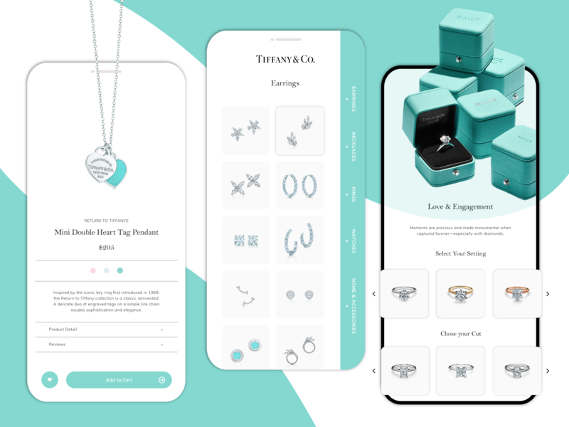 Tiffany & Co. Ui/Ux Concept Design jewelry app mobile ux ui tiffany blue tiffany branding concept design