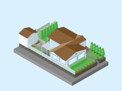 The House on 59th architecture illustrator isometric iso