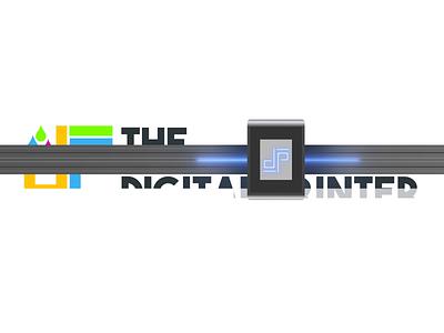 Digital Printer Logo Animation printing deep glow intro logo animation