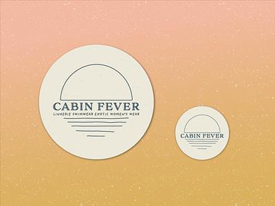 Cabin Fever Logo logo design rough lines speckled egg campy minimalist logo