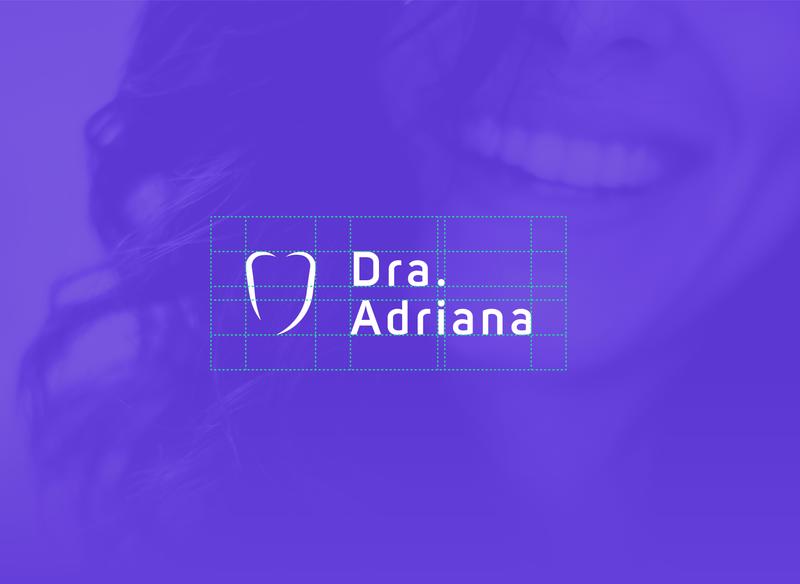 Dra. Adriana - Dentist Logo smile grid design grid logo grid purple logotypes logo logotype visual identity graphic designer graphic design designer design tooth teeth odontology dentists dentist logo dentistry dentist
