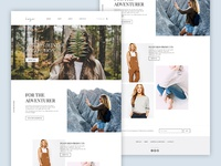 Fashion website mockup