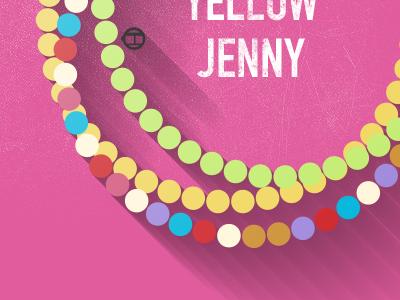 Happy Beads –Yellow Jenny illustration bracelets