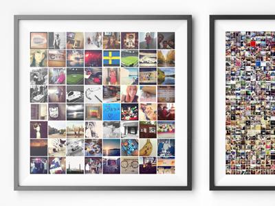 Mosaink frames mockup grid images frame mosaic instagram