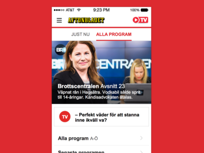 Upcoming look of Aftonbladet TV