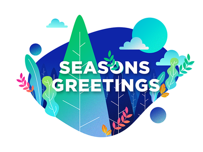 Seasons Greetings concept greetingcard seasons greetings card design illustration