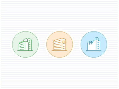 Hotel / Hospital / Factory Icons