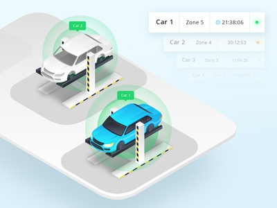Isometric car illustration