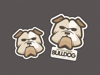 Logo My Way Dream Bulldog logo bulldog dog animals mascot english