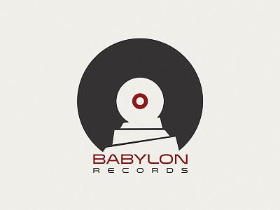 Logo Babylon Records logo records music babylon vinyl babel tower disco