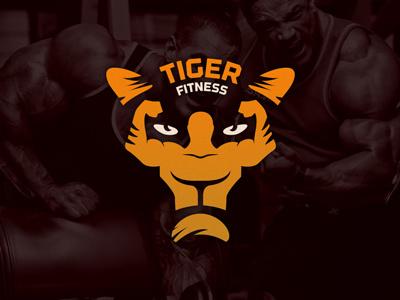 Logo Tiger Fitness logo tiger fitness bodybuilder bodybuilding gym animal mascot