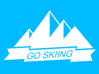 GO SKIING , just blue