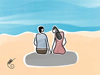 Lovers procreate design illustration user interface ui