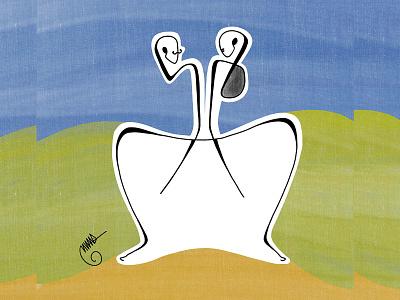 U & I ui procreate user interface illustration