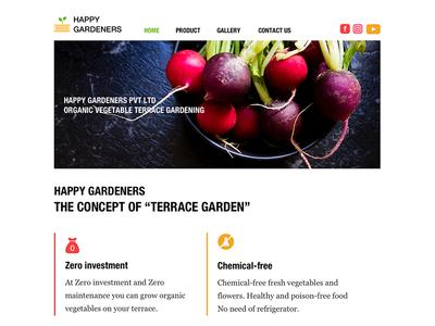 Happy Gardeners Website Home Page