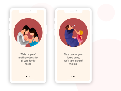On boarding screen concept for online medicine shopping app