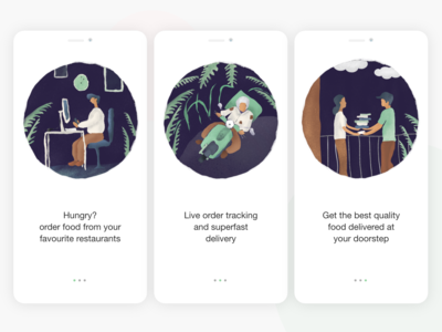 Onboarding Screens for food delivery app
