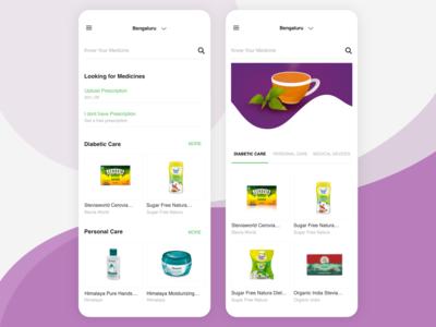 Online Medical Store & Healthcare App concept