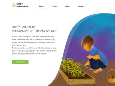 Happy gardeners web page