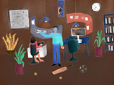 Illustration web design web design user interface ui procreate illustration