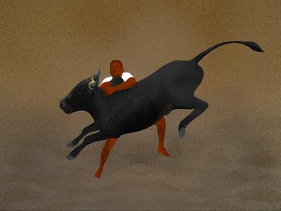 Jellikattu procreate illustration