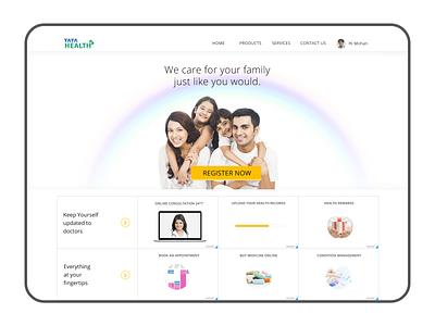 Tata Health web design web user interface ui design
