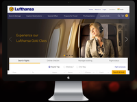 Lufthansa airlines booking webpage