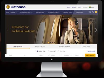 Lufthansa airlines booking webpage branding mobile web web design user interface ui