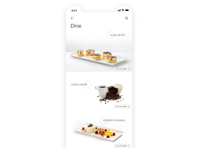 Dine page concept for a shopping mall mobile app mall food mobile design user interface ui
