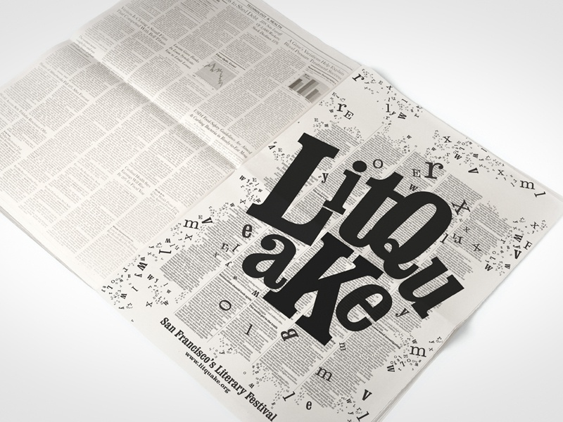 Litquate Newspaper Ad ad letter type typography design graphic concept creative newspaper