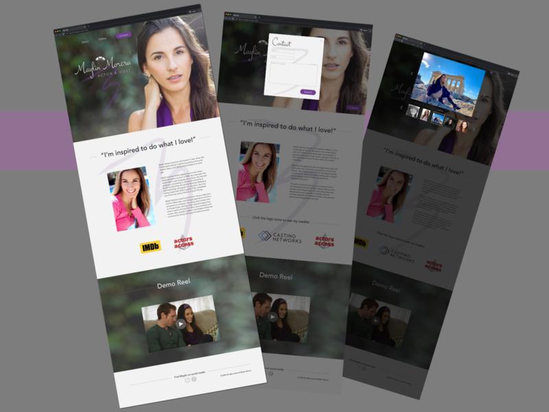 Website for Actor Maylin Morera ux ui web design