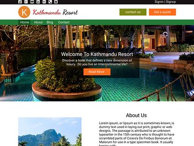 Kathmandu Resort web design