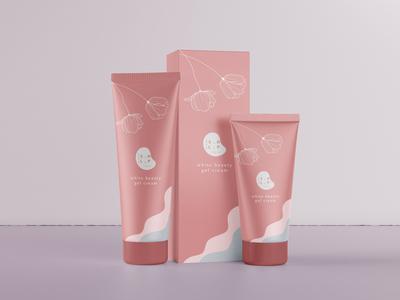 S.H.L.P Cosmetics_ White Beauty Gel Cream branding logo design illustration