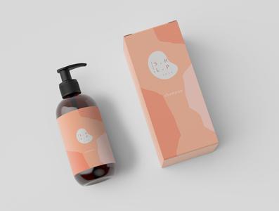 S.H.L.P Cosmetics_ Shampoo branding design logo illustration
