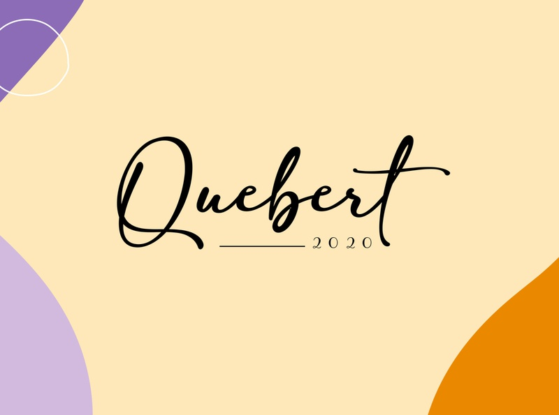 Quebert Coffee Shop branding icon design logo illustration