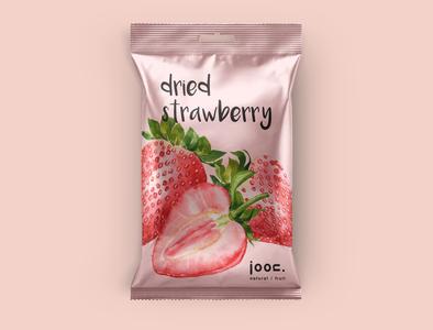 Joon natural/fruit_Dried Strawberry vector branding design logo illustration