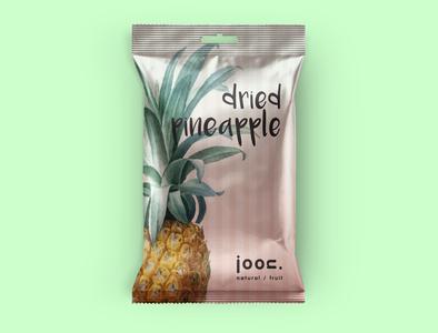 Joon natural/fruit_Dried Pineapple branding icon design logo illustration