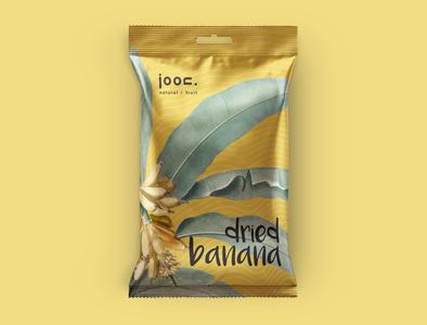 Joon natural/fruit_Dried Banana icon vector branding design logo illustration